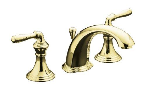 KOHLER K-394-4-PB Devonshire Widespread Lavatory Faucet, Vibrant Polished Brass