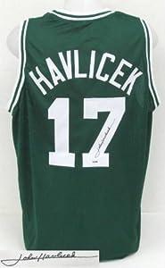 John Havlicek Boston Celtics Signed Green Custom Jersey PSA DNA ITP by Sports Integrity