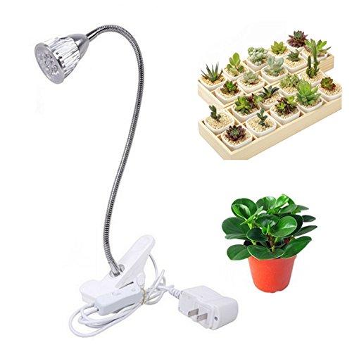 LED植物育成ライト5W 360度調節可能 クリップ式植物ライト消費電力 長...