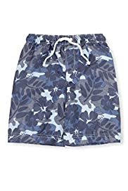 Contrast Drawstring Hibiscus Print Swim Shorts