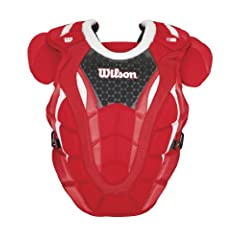 Buy Wilson Promotion 16-Inch Baseball Chest Protector with Isoblox, Scarlet, Adult by Wilson