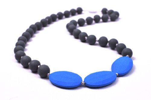 Bitey Beads Silicone Teething Nursing Necklace 2 Tone - 1