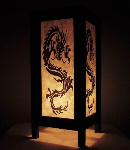 rare-asie-thai-lampe-de-tables-bouddha-style-chevet-noir-blanc-dragon-par-thailande