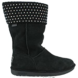 Women's Skechers, Shelby Rhinestone Boots  Genuine suede leather uppers with Sweater knit collar  glittering mini sequin accents  Slip on style for an easy on and off  Faux fur lining  Lightly cushioned insole  9 1/2 inch shaft height with a 6 1/2 in...