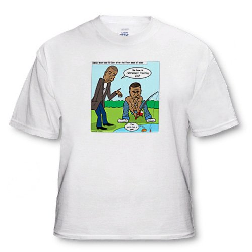 Kanye West and 50 Cent Bet on Record Sales Cartoon - Adult T-Shirt Medium