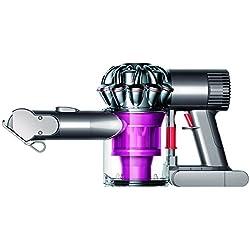 Dyson V6 Trigger+ - Aspiradora de mano con 2 modos de aspiración, 350 W de potencia, 28-100 W de succión, color rosa y plata