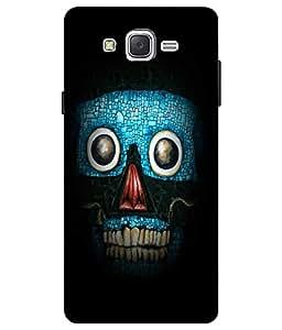 Make My Print Cartoon Printed Blue Hard Back Cover For Samsung Galaxy J2