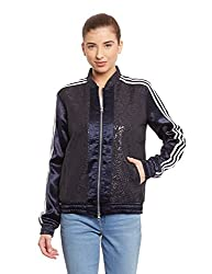 adidas Originals Women's Quilted Jacket (AB2609_Black_34)