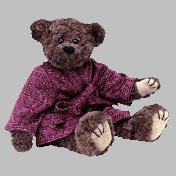 1 X Ty Attic Treasures - Tyrone the Brown Bear in Burgandy Robe