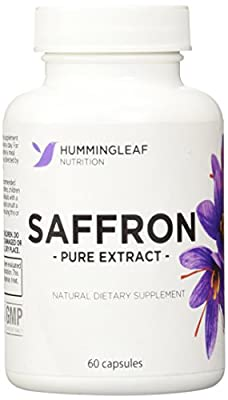 Pure Saffron Extract for Weight Loss As Seen on Dr Oz - All Natural Appetite Suppressant with No Side Effects - Satiereal Saffron Extract 88.50mg Per Capsule - Ultra Premium Fat Buster Dietary Supplement - 60 Capsules, 30 Day Supply - Made in USA