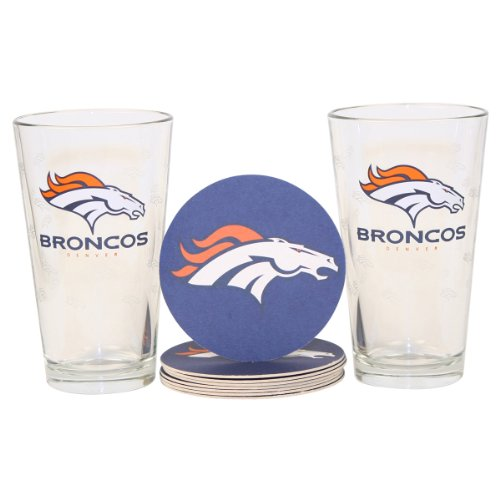 Denver Broncos Beer Glasses
