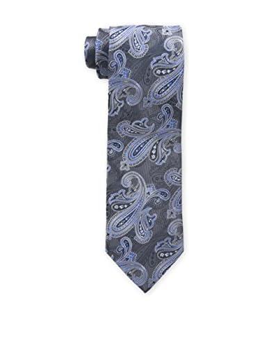 Bruno Piattelli Men's Classic Paisley Tie, Blue