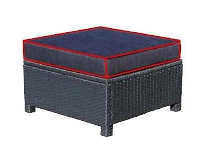 Sitzkissen 60x60x10cm Schwarz zu Lounge Hocker von Famous Home - Gartenmöbel von Du und Dein Garten