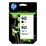 HP 901 Retail Combo Pack Ink Cartridges -  1 each 901 Black & 901 Color (CN069FN#140)