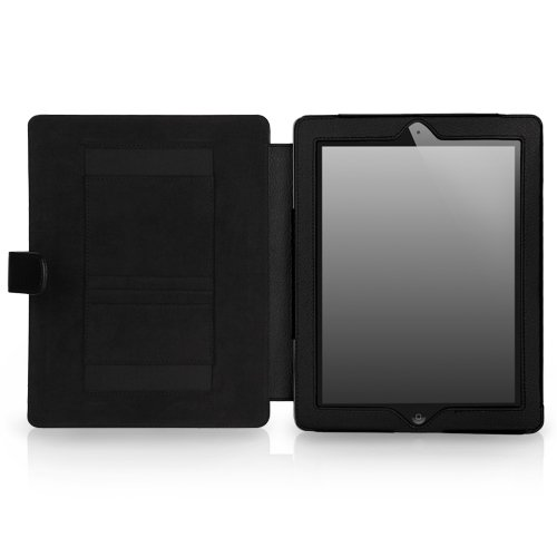 CaseCrown Epic Standby Case (Black) for iPad 4th Generation with Retina Display, iPad 3 & iPad 2 (Built-in magnet for sleep / wake feature)