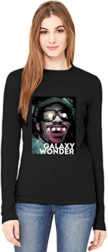 Galaxy Stevie Wonder T-Shirt da Donna a Maniche Lunghe Long-Sleeve T-shirt For Women| 100% Premium Cotton| DTG Printing| XX-Large