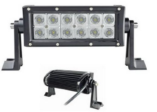 """Starr Lite 6"""" 36W R-Spec Off Road Led Driving Work Light Bar -3W Led Lumen Great For Jeep Cabin/Boat/Suv/Truck/Car/Atv"""