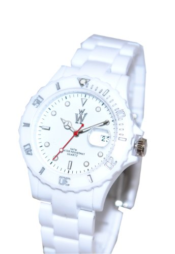 Wow-Black UK Brand Original Wow-Watch UK White Plastic celebrity Watch With White Dial inc Day Date . High quality guarantee.Analogue watch with plastic strap and stainless steel clasp. Ideal as a toy gift or fashionable watch.....Gift Wrap Included