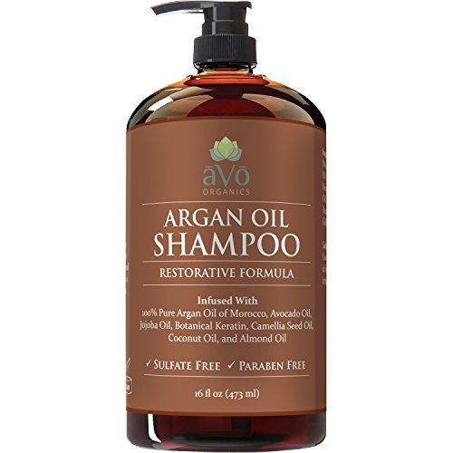 Argan Oil Daily Shampoo by aVo Organics, 16 oz - Moisturizing, Volumizing Vitamin Infused Gentle Hair Restoration, Sulfate Free, Moroccan Oil and Keratin - Natural Ingredients for Men and Women (Shampoo Natural Hair compare prices)
