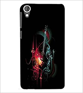 PrintDhaba Music D-2412 Back Case Cover for HTC DESIRE 820 (Multi-Coloured)