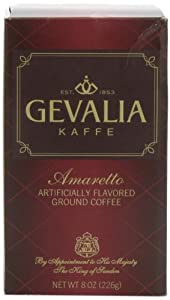Gevalia Amaretto Ground Coffee, 8-Ounce Packages (Pack of 3)
