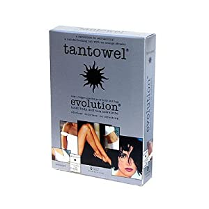 Tantowel Self-Tanning Towlettes, Full Body Application, 5 ct