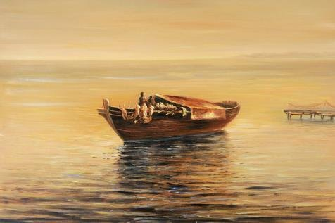 canvas-prints-of-oil-painting-seascape-of-a-boat-on-the-sea-20-x-30-inch-51-x-76-cm-high-quality-pol