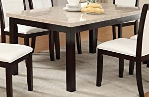 Amazoncom Real Marble Top Dining Table by Poundex : 41WRHN24DTLSX300 from amazon.com size 300 x 195 jpeg 16kB