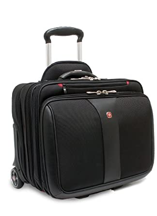 Wenger Patriot Rolling 2 Piece Business Set, Black, One Size