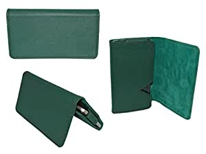 Premium Branded Wallet Pouch For Intex Aqua Star 2013 - WTPGR45#0695 - Green