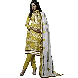 Typify Women's Chanderi Unstitched Dress Material (TYPIFY224_Multicolor_Free Size)