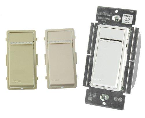 Leviton Vrmx1-1Lz 1000W Vizia Rf Zwave Universal Magnetic Low Voltage Dimmer, White/Ivory/Light Almond