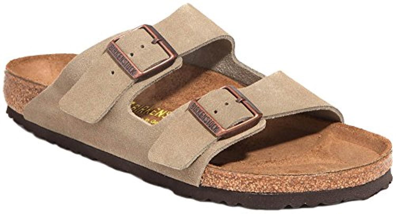 birkenstock arizona 2 strap suede leather sandals taupe light sandy beige yellowish brown. Black Bedroom Furniture Sets. Home Design Ideas