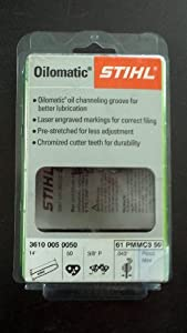 STIHL 61PMMC3-50 Oilomatic Picco Micro Mini Comfort 14-Inch Saw Chain, 3/8-Inch Pitch, .043-Inch Gauge, 50 Drive Lengths (Discontinued by Manufacturer)