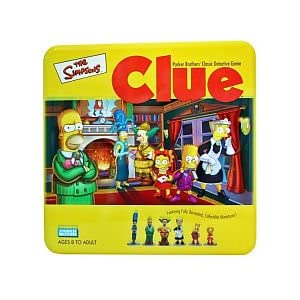 Simpsons CLUE in a tin