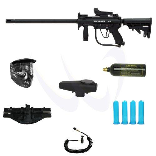 Tippmann A5 A 5 Tactical Paintball Marker Gun Basic M18DS DP Power Package