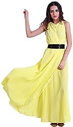 D&S Women's A-line Dress (Yellow, XL)