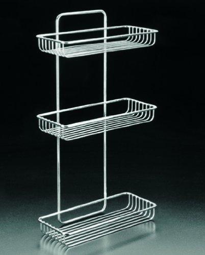 Metaltex Mallorca 3-Tier Rectangular Bathroom Shelf