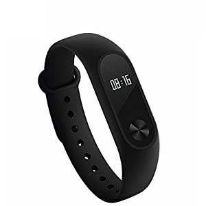Ollivan Xiaomi Mi Band 2 Modelo Nuevo del Pulsera del Monitor de Actividad Smart Wristband IP67 Bluetooth 4.0 Android 4.4 iOS 7.0 o más (negro)