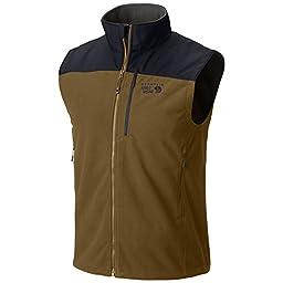 Mountain Hardwear Men\'s Mountain Tech II Vest, Golden Brown / Hardwear Navy, Medium