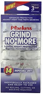 Plackers Mouth Guard Grind No More Dental Night Protector, 14 Count