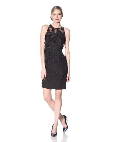 Nue by Shani Women's Sleeveless Crepe Dress with Allover Pailettes