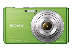 Sony Cyber-shot DSC-W610 14.1 MP Digital Camera with 4x Optical Zoom and 2.7-Inch LCD (Green) (2012 Model)