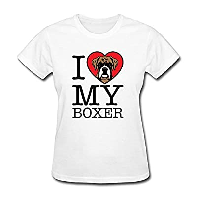 Personalized O Neck Slim Fit I Heart Love Boxers Dogs Style Women T Shirts