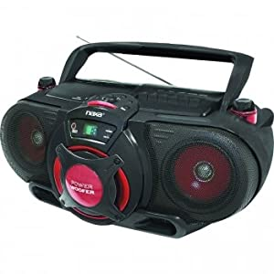 Naxa Portable MP3/CD AM/FM Stereo Radio Cassette Player/Recorder with Subwoofer and USB Input