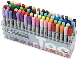 Copic Ciao Double Ended Markers - Set A of 72 Markers (Color: assorted)
