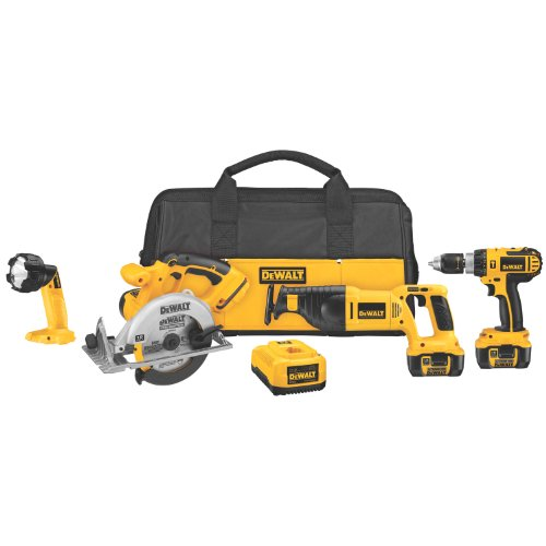DEWALT DCK460L 18-Volt Cordless 4-Tool Combo Kit with XRP Li-Ion Battery Packs