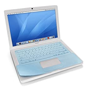 Rasfox Keyboard Silicone Skin Cover for 13-Inch MacBook Aluminum Unibody Blue