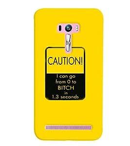 PrintVisa Stylish Cool Girl Quotes 3D Hard Polycarbonate Designer Back Case Cover for Asus Zenfone Selfie