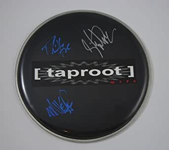 Taproot Gift Group Signed Autographed Ebony Drum Skin